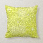 Chrysanthemum Lime Green Pillow