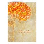 Chrysanthemum Orange Floral Wedding Thank You Card