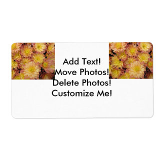 Chrysanthemum Plant Group Peach Personalized Shipping Label