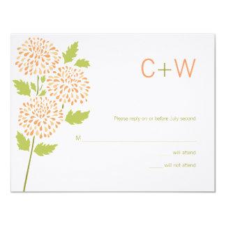 "Chrysanthemum RSVP Card 4.25"" X 5.5"" Invitation Card"