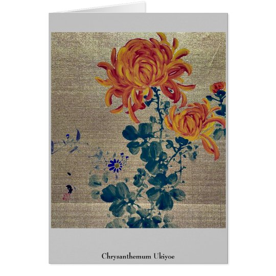 Chrysanthemum Ukiyoe Card