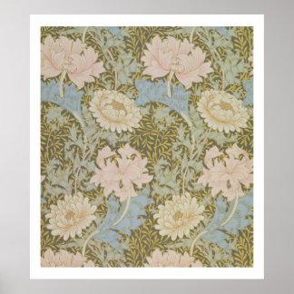 'Chrysanthemum' wallpaper, 1876 (wallpaper) Poster