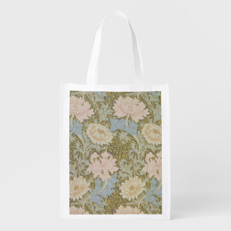 'Chrysanthemum' wallpaper, 1876 (wallpaper) Reusable Grocery Bag
