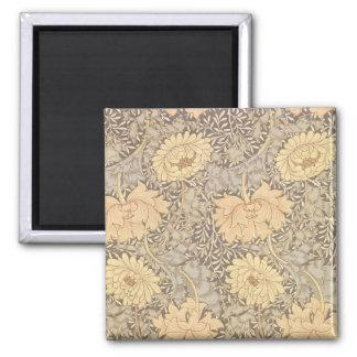 'Chrysanthemum' wallpaper design, 1876 2 Inch Square Magnet