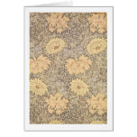 'Chrysanthemum' wallpaper design, 1876 Card