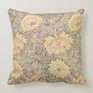 'Chrysanthemum' wallpaper design, 1876 Pillow