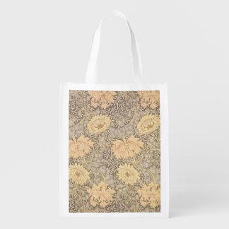 'Chrysanthemum' wallpaper design, 1876 Reusable Grocery Bag