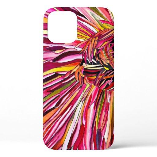 Chrysanthemum watercolor art flower iPhone 12 case