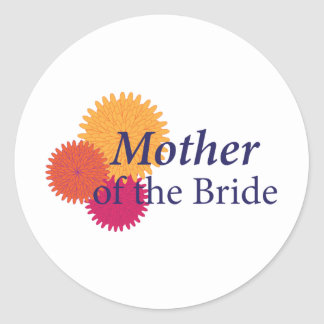 Chrysanthemum Wedding Classic Round Sticker