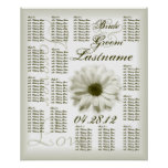 Chrysanthemum Wedding Guest Seating Chart Posters