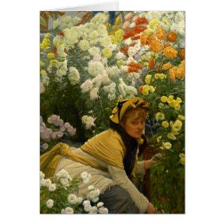 Chrysanthemums 1875 card