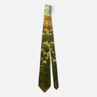 Chrysanthemums 1875 tie