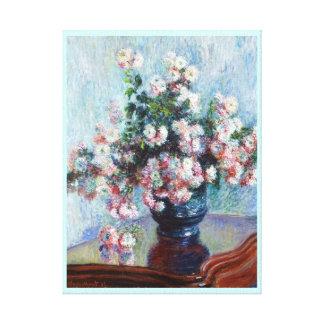 Chrysanthemums, 1882 Claude Monet Stretched Canvas Print