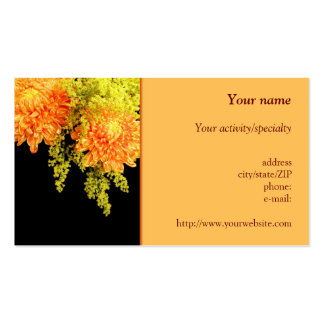 """""""Chrysanthemums and Goldenrods"""" business card"""
