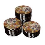 Chrysanthemums by Monet Poker Chips Set