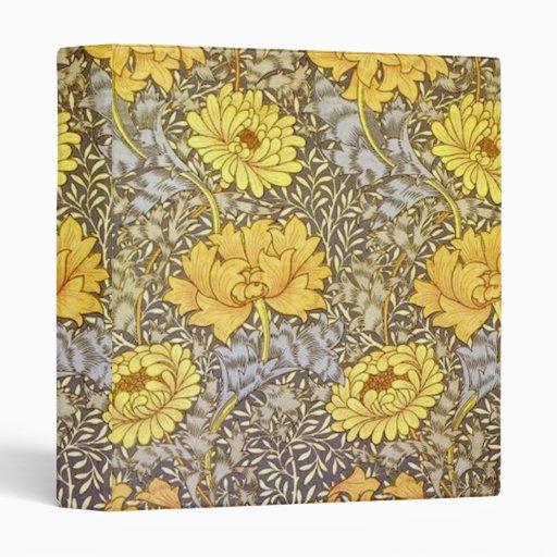 Chrysanthemums by William Morris 3 Ring Binders