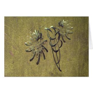 Chrysanthemums Card