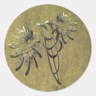 Chrysanthemums Classic Round Sticker