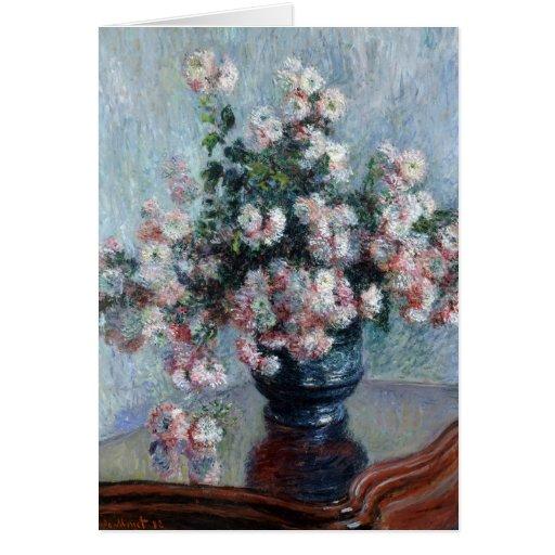Chrysanthemums - Claude Monet Greeting Card