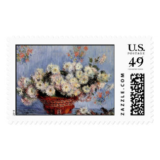 Chrysanthemums - Claude Monet Postage Stamps