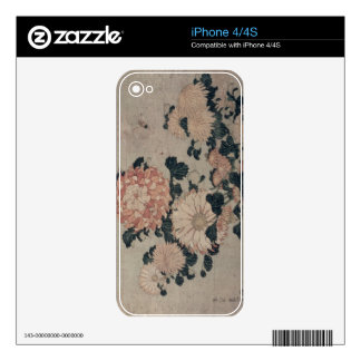 Chrysanthemums (colour woodblock) iPhone 4S skins