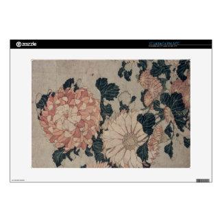 Chrysanthemums (colour woodblock) laptop decals