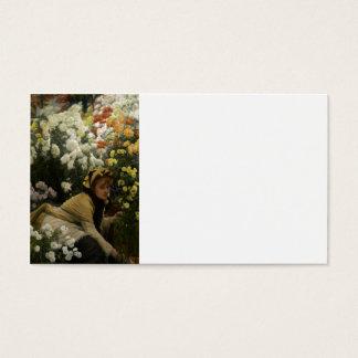 Chrysanthemums (flower seller) business card