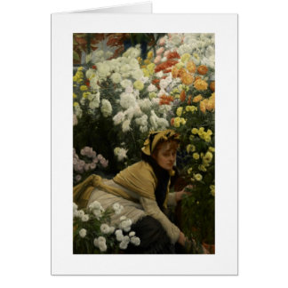 Chrysanthemums (flower seller) card