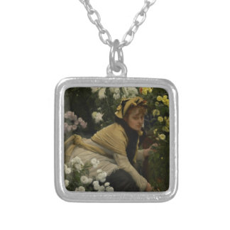 Chrysanthemums (flower seller) silver plated necklace