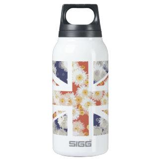 Chrysanthemums Flower Union Jack British(UK) Flag Thermos Bottle