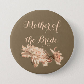 Chrysanthemums in a Bottle Mother of the Bride Pinback Button