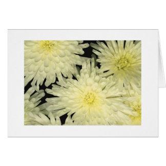 """Chrysanthemums Like Stars"" Card"