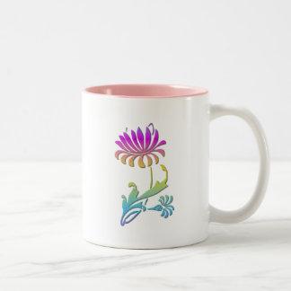 Chrysanthemums Two-Tone Coffee Mug