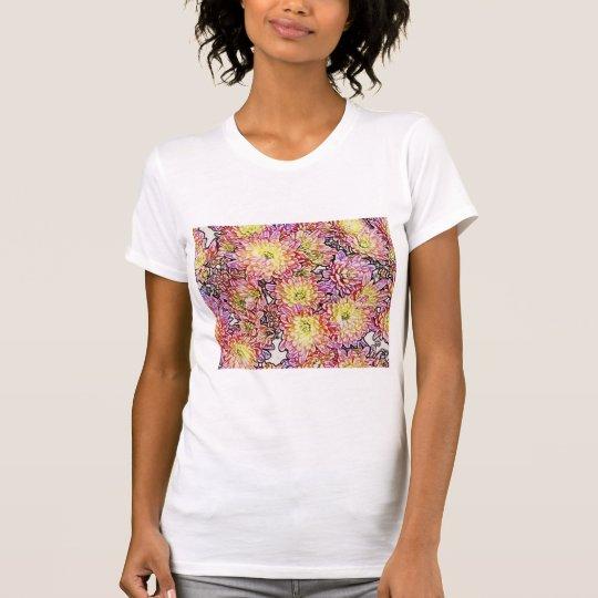 Chrysanthemums W/in Lines Ladies Petite T-Shirt