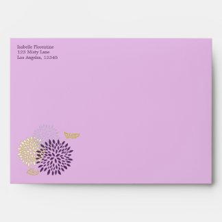 Chrysanthemums Wedding 5 x 7 Envelope