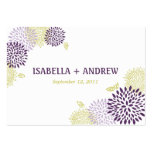 Chrysanthemums Wedding Directions Chubby Large Business Cards (Pack Of 100)