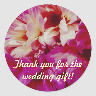 Chrysanthemums Wedding Gift Thank You Stickers