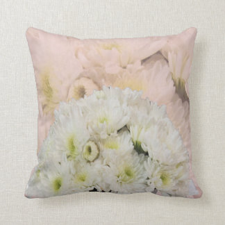 Chrysanthemums White and Pink American MoJo Pillow