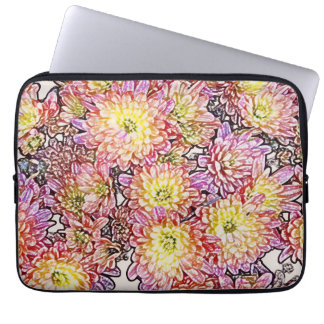 "Chrysanthemums Within the Lines 13"" Laptop Sleeve"