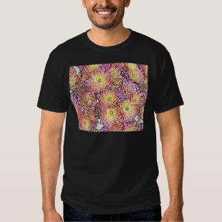 Chrysanthemums Within the Lines Basic Dark T-Shirt