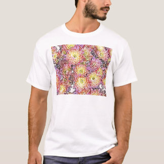 Chrysanthemums Within the Lines Basic T-Shirt