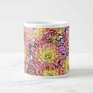 """""""Chrysanthemums Within the Lines"""" Giant Coffee Mug"""