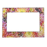 Chrysanthemums Within the Lines Magnetic Frame