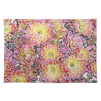 Chrysanthemums Within the Lines Placemat