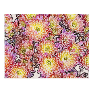Chrysanthemums Within the Lines Postcard