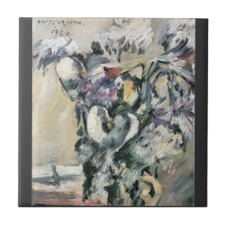 Chrysanthimums and Calla Lillies by Lovis Corinth Small Square Tile