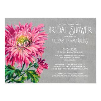 "Chrysanths Bridal Shower Invitations 5"" X 7"" Invitation Card"