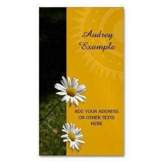 Chrysanths Flowers & Sun + your text & ideas Business Card Magnet