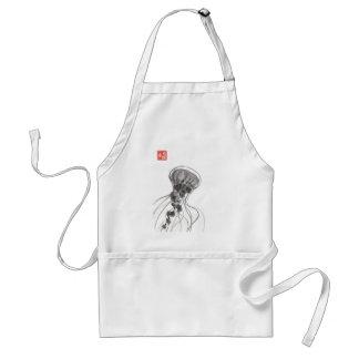 Chrysaora Jellyfish Ink Painting Adult Apron