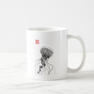 Chrysaora Jellyfish Ink Painting Coffee Mug